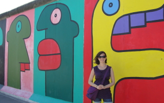 Guest post author Emily Lamia on a trip to the Berlin Wall